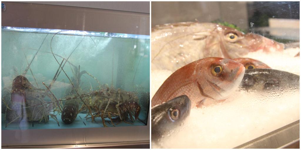 Pesce fresco e crostacei a La Vela